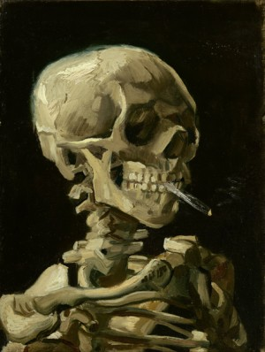 Head-of-a-skeleton-with-a-burning-cigarette-by-Vincent-van-Gogh